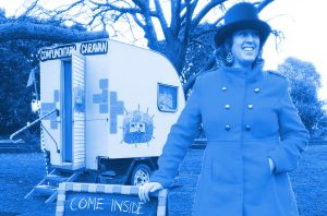 Rose with her Complimentary Caravan